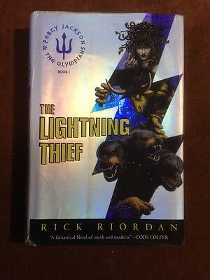 The Lightning Thief  FIRST EDITION  by Rick Riordan 2005 Hardcover Ex Lib