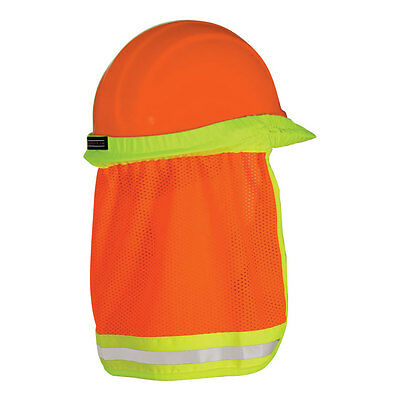 Mesh Fabric Neck Sun Protector High Visibility for Hard Hat Construction 1272-O