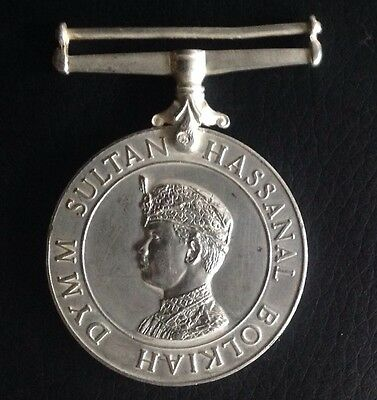 Extremely Rare!!! Gorkha Reserve Service Medal - Brunei -Silver.