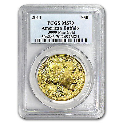 2011 1 oz Gold Buffalo MS-70 PCGS