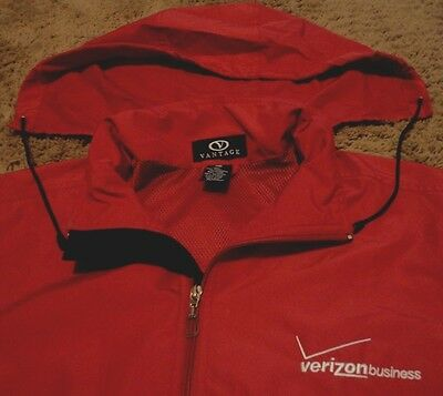 VERIZON WIRELESS BUSINESS Hooded Jacket Windbreaker for over shirt Size Medium