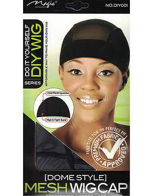 DO IT YOURSELF MESH DOME WIG CAP COOL MESH SPANDEX with High & Tight Band diy001