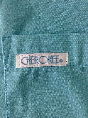 cherokee Nursing Uniform Scrub Top Blue Women's Large