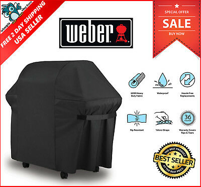 BBQ Gas Grill Cover 7107 Weber Genesis Spirit Series Outdoor Barbeque Heavy Duty