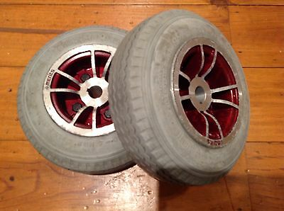 Mobility Scooter DMA Wheels and Tyres Back Pair Solid Tyres