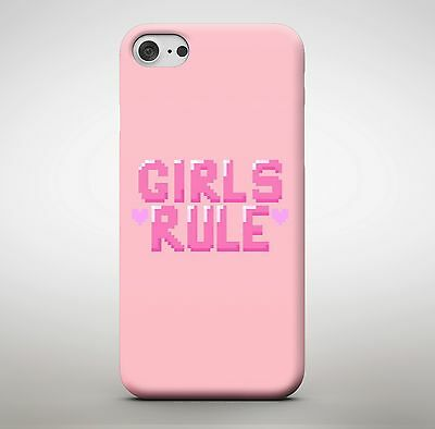 Girls Rule Pink Queen Princess Amazing Love Heart Phone Case Cover