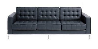 1 PC Modern button Loft Style Leather Sofa #1255 In black/White