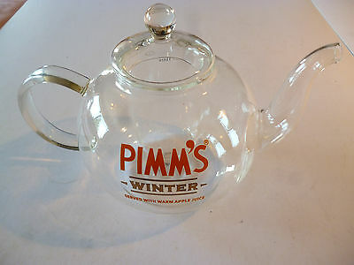 Pimm's Glass Winter Or Garden Tea Party Tea Pot And Pot Cover - Collectable