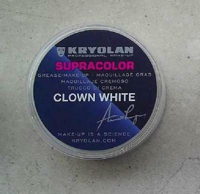 KRYOLAN SUPRACOLOR BIANCO CLOWN 20 ml 30 gr white cialda trucco teatrale