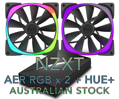 NZXT Aer RGB Fan x 2 and HUE+ Kit