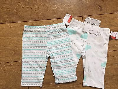 New Sterling Baby Boy 2x Pants Trousers Newborn