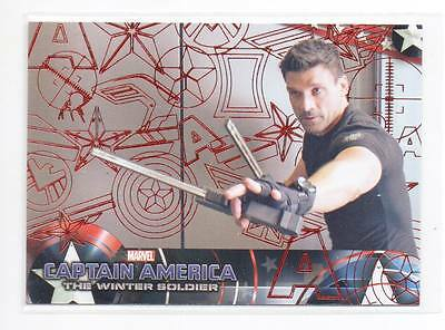 2014 Upper Deck Captain America The Winter Soldier Red 41 Hawkeye 61/99