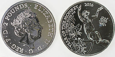 Great Britain 2016 1oz. Silver Year of the Monkey C2128