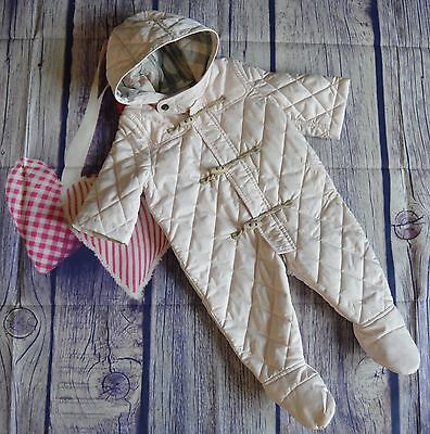 New!!! Burberry Baby Girls Designer Pink Snowsuit 3-6 Months RRP £245