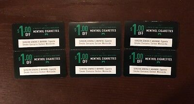 $6 Marlboro Coupons 6x$1 off a pack of any style Marlboro Menthol Cigarettes