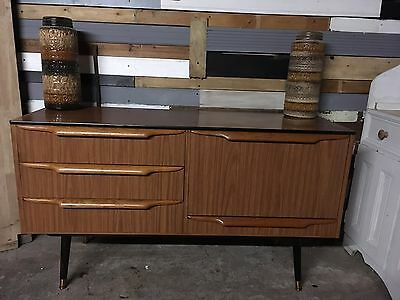 Retro vintage teak sideboard G Plan Style Mid Century tv table cocktail cabinet