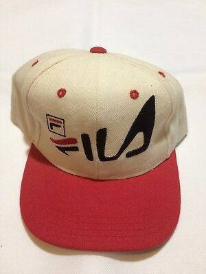 Vintage Fila SnapBack Hat 90s Basketball Grant Hill Boys One Size Fits All