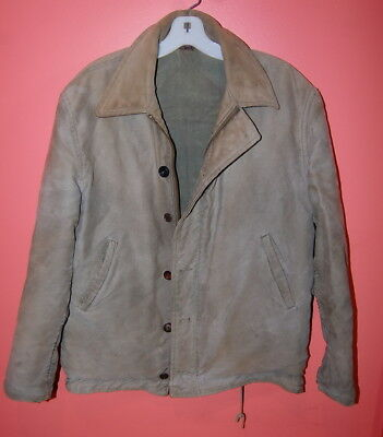Vintage 1950's DECK Work JACKET Industrial Mechanic Military Style Jacket Coat