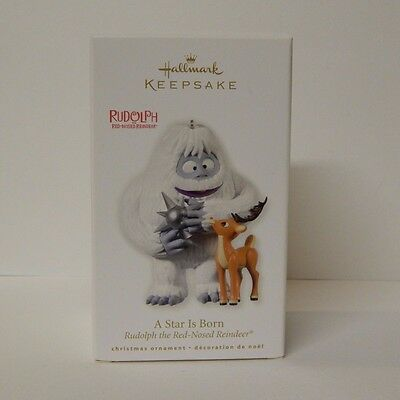 Hallmark Ornament Rudolph the Red Nosed Reindeer A Star Is Born 2010 NEW