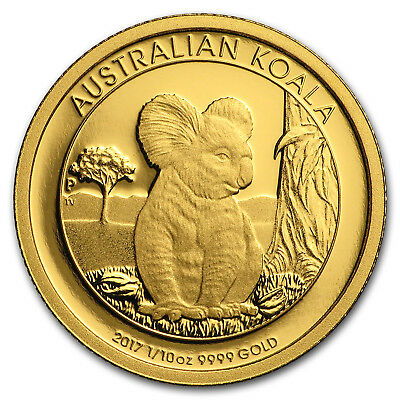 2017 Australia 1/10 oz Gold Koala Proof - SKU #152523