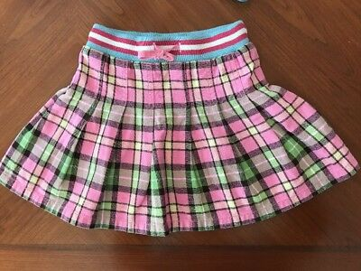 Mini Boden Plaid Flannel Girl's Skirt - Size 5-6Y - Cute!