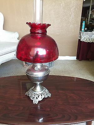 "antique oil lamp, Plume & Atwood ""Royal"" center draft oil lamp"