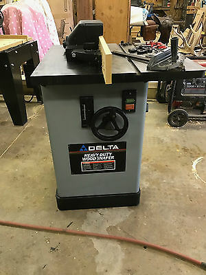 delta heavy duty wood shaper 3 hp 1 phase router table powermatic jet grizzly