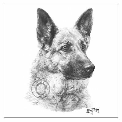 new Mike Sibley German Shepherd dog breed greeting card happy birthday thank you