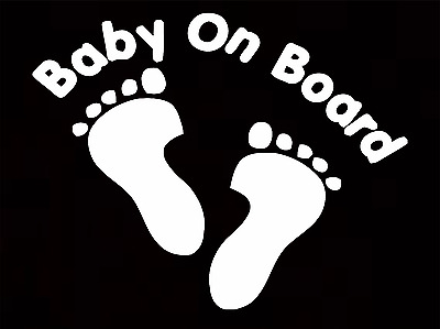 Baby On Board Baby Child Window Bumper Car Sign Window Sticker 0