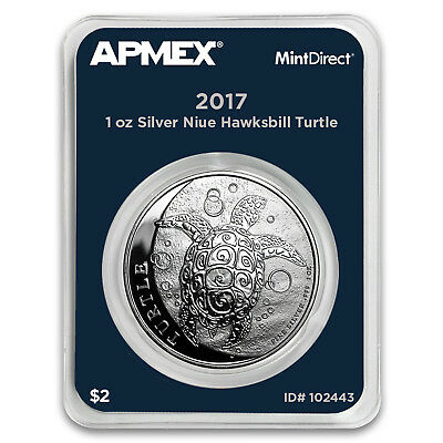 2017 Niue 1 oz Silver $2 Hawksbill Turtle (MintDirect® Single)