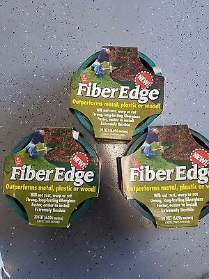 3 sets Fiber Edge FiberEdge Easy Gardener Fiberglass Edging  Stakes Garden 20 Ft