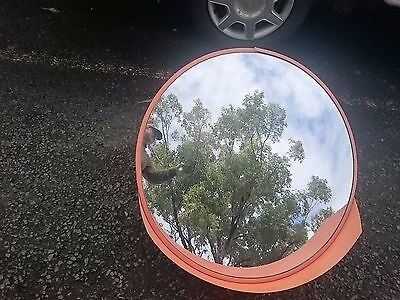 80cm Wide Angle Security Curved Convex Road PC Mirror -Traffic Driveway Safety