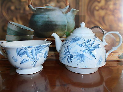 Beautiful Botanic Blue Tea For One Set By Portmeirion / New in Box