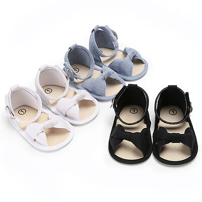 33ad8643f2c60 Newborn Baby Girl Soft Sole Crib Shoes Infant Toddler Summer Sandals 0-18  Months