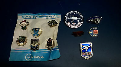 Lot 11 pins broches TBE URSS CCCP USSR COSMOS Space Aviation An. 1980