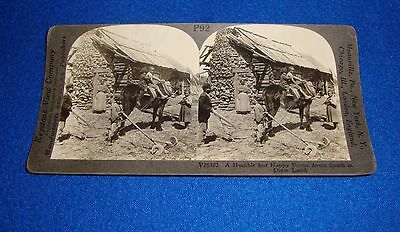 Vintage Black Americana Stereoview Humble but Happy Home