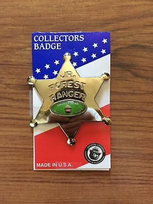 Smokey The Bear Officially Vintage JR FOREST RANGER COLLECTORS BADGE Sheriff PIN