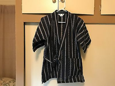 Japanese Child's Traditional Suit Jinbei Kimono Yukata Navy Size M Made in Japan