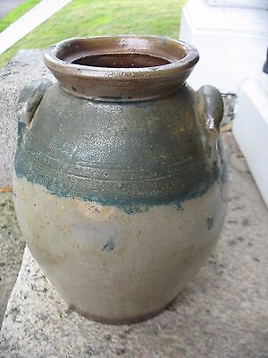 Antique Rare Color Size 3 Gal / Gallon Stoneware Butter Churn Blue cobalt OLD