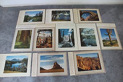 11 Vintage West Chevron & Standard Oil Advertising Premium 12 X 17 1/2 Prints