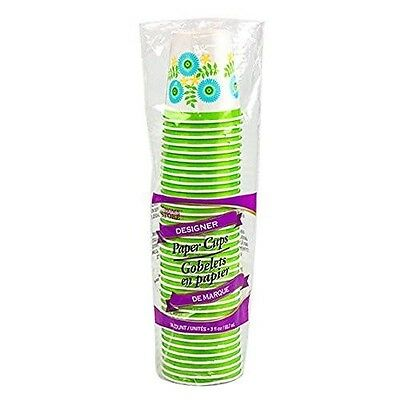 New The Home Store Designer 3 oz. Bath Paper Cup Disposable 36 Count Cups Pack