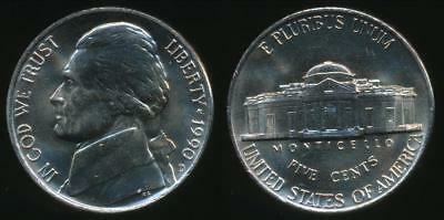 United States, 1990-D 5 Cents, Jefferson Nickel - Uncirculated