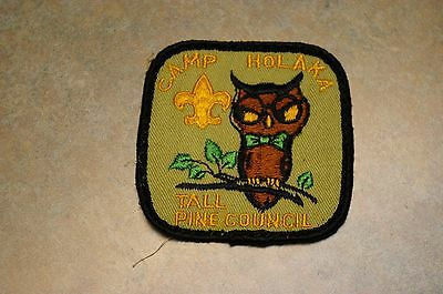 """Vintage 1970's Boy Scout Bsa 'camp Holaka' 'tall Pine Council' 3"""" Patch"""