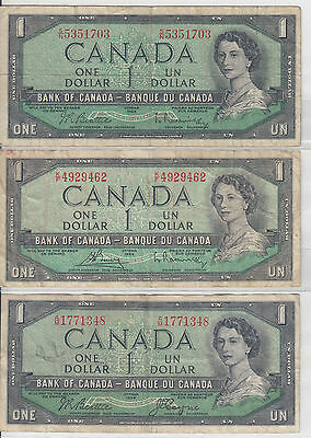 Canada Bank Notes : $1 Dollar 1954