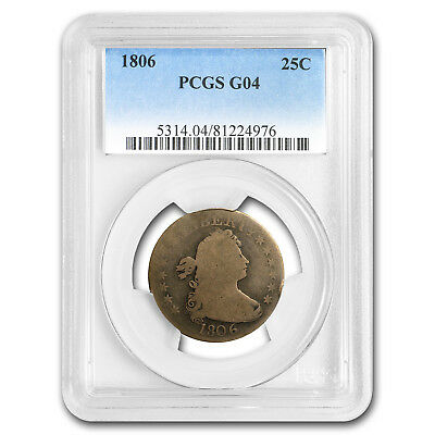 1806 Draped Bust Quarter Good-4 PCGS