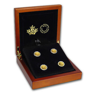 2014 Canada 1/10 oz Proof Gold $5 4-coin Set