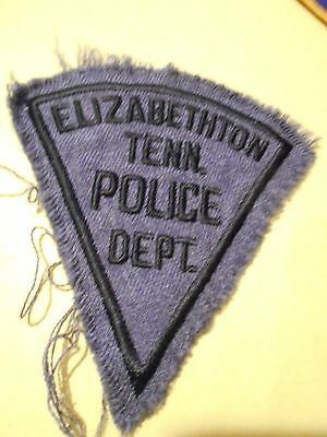Elizabethton Tennessee Police Department Shoulder Patch