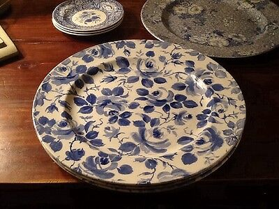 "SPODE MADE IN ENGLAND BLUE ROSE (1 of 3 avail) 12 7/8"" Plate(s)"