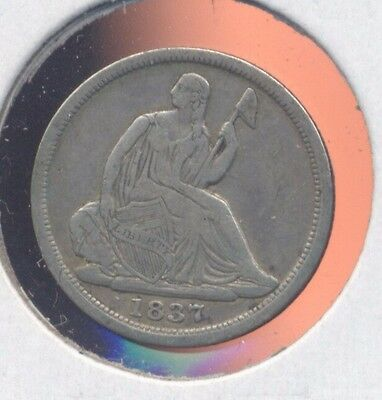 1837 Seated Liberty silver half-dime. VF.  (Lot#2)
