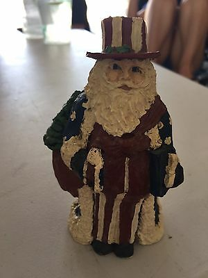 Patriotic Santa 4th of July Resin Figure